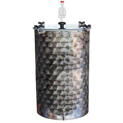Bild von Gärfass 75 Liter Edelstahl mit Spund und Auslaufhahn