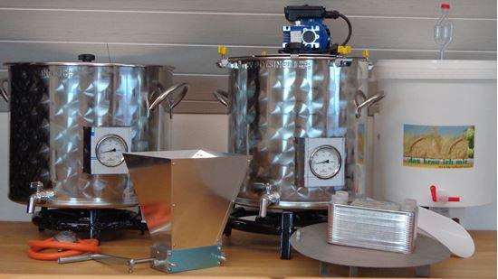 Bild von Bierbrauanlage 35 Liter Gas mit Rührwerk