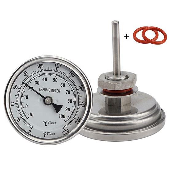 Bild von Weldless Bi-metal Thermometer 0-220 F, -10 °C bis + 100°C